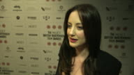 Andrea Riseborough on her speech what it means to her winning an award for 'Shadowdancer' at British Independent Film Awards Winners Interviews at...