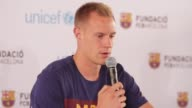 INTERVIEW Andres Iniesta MarcAndre ter Stegen at Andres Iniesta MarcAndre ter Stegen Have A Candid Conversation About Sport With Children in Los...