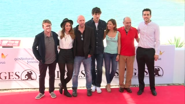Andres Velencoso and Maiara Walsh attend a photocall for their latest film 'Summer Camp' at the 48th Sitges Film Festival