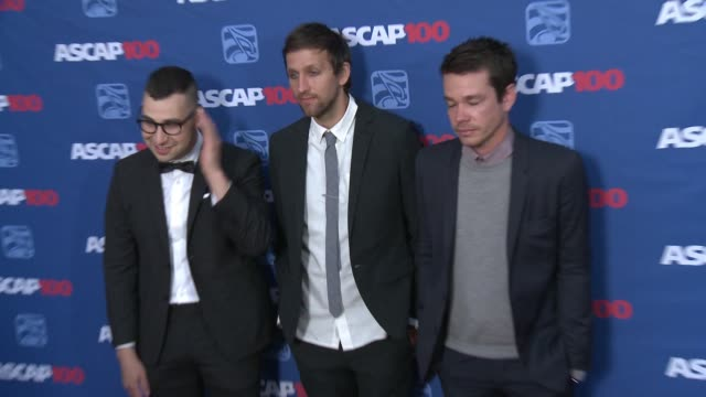 Andrew Dost Jack Antonoff and Nate Ruess at the 31st Annual ASCAP Pop Music Awards at Lowes Hollywood Hotel on April 23 2014 in Hollywood California