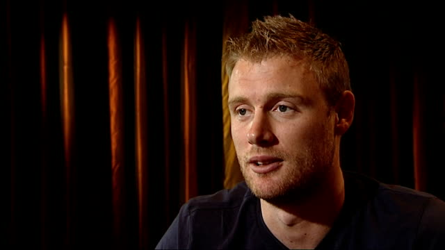 Andrew Flintoff interview Flintoff interview SOT Best case scenario world cup winner play for next ten years I'd love to win a world cup finish test...