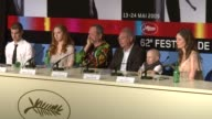 Andrew Garfield Lily Cole Terry Gilliam Samuel Hadida Verne Troyer and Amy Gilliam at the Cannes Film Festival 2009 The Imaginarium of Dr Parnassus...