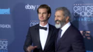 Andrew Garfield Mel Gibson at 22nd Annual Critics' Choice Awards in Los Angeles CA