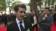 Andrew Garfield on the stunts skateboarding being casted for Spiderman at The Amazing SpiderMan UK Premiere at Odeon Leicester Square on June 18 2012...