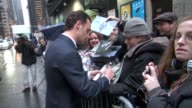 Andrew Lincoln at the 'Late Show with David Letterman' studio in New York on 2/16/2012