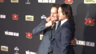 Andrew Lincoln Norman Reedus and Lauren Cohan at 'The Walking Dead Season 5' Los Angeles Premiere at AMC Universal City Walk on October 02 2014 in...
