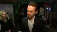 Andrew Lincoln on enjoying his characters role of being able to be both indoors and outdoors at the Strike Back Premiere UK at London England