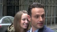 Andrew Lincoln signs for fans outside Good Day New York 02/17/12 in Celebrity Sightings in New York