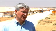 Andrew Mitchell visits refugee camp on Syrian border Andrew Mitchell MP interview SOT