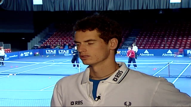 Andrew Murray sponsorship deal Andy Murray interview SOT Federer is great player great to beat him