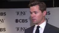 INTERVIEW Andrew Rannells discusses what it was like the morning of his Tony award nomination what his advice is for this years nominees on their...