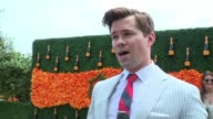 INTERVIEW Andrew Rannells on singing the national anthem and enjoying the day at NinthAnnual Veuve Clicquot Polo Classic at Liberty State Park on...