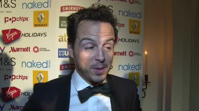 INTERVIEW Andrew Scott on the awards and Benedict Cumberbatch at the Attitude Magazine Awards on 13th October 2014 in London England