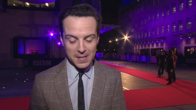 INTERVIEW Andrew Scott on working with BBC Film and BBC TV filming the new Bond film 'Spectre' if he would present 'Top Gear' at BBC Films 25th...