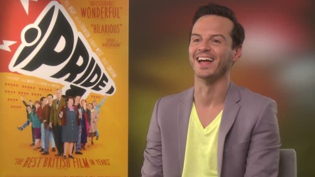 Andrew Scott talks about the next series of Sherlock and the show's success at the Emmys at the Pride Junket September 2nd 2014 Soho Hotel London