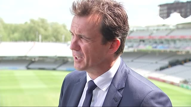 Andrew Strauss and Tom Harrison gvs and interviews Tom Harrison interview SOT