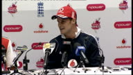 INT Andrew Strauss press conference SOT all credit to two tail enders were under lot of pressure