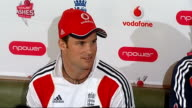 Andrew Strauss press conference SOT Reporter to camera