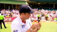 Andrew Strauss steps down as England captain 712011 Sydney Andrew Strauss holding and kissing Ashes urn at time of England's Ashes win in Australia