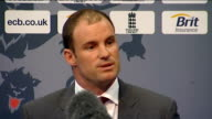 Andrew Strauss steps down as England captain INT Strauss press conference SOT Was going to make this decision before the Kevin Pietersen situation...