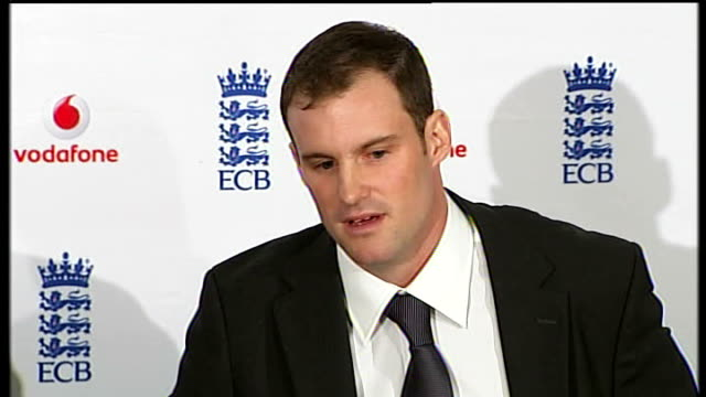 Andrew Strauss takes over as England cricket captain ENGLAND London Lord's cricket ground PHOTOGRAPHY * * Andrew Strauss press conference SOT Got no...
