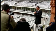 Andrew Strauss takes over as England cricket captain London Lords Cricket Ground EXT Andrew Strauss standing on balcony of dressing room for...