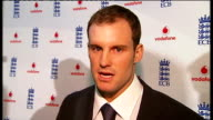Andrew Strauss takes over as England cricket captain Strauss speaking to press Strauss interview SOT Strauss leaving press conference *** FLASH