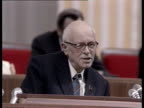 Andrey Sakharov before congress AllUnion Congress of People's Deputies speaking about corruption and organized crime Gorbachev invites Andrey...
