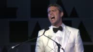 Andy Cohen introduces Courtney Love at the 2nd Annual amfAR Inspiration Gala New York Show and Runway at New York NY