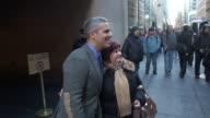 Andy Cohen leaving the TODAY show in Rockefeller Center poses for photos with fans Celebrity Sightings in New York on Nov 17 2014 in New York City...