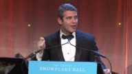 Andy Cohen makes closing renarks says Tea Leone called in a Land Rover donation at the 2011 UNICEF Snowflake Ball at New York NY