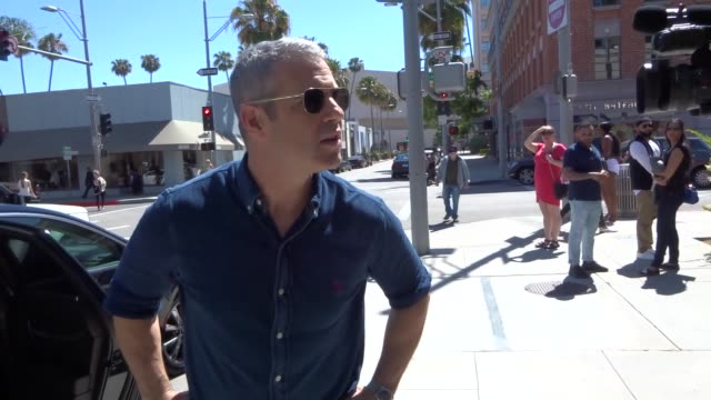 INTERVIEW Andy Cohen on drinking Amber Tamblyn's breast milk while shopping in Beverly Hills at Celebrity Sightings in Los Angeles on May 19 2017 in...