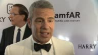 INTERVIEW Andy Cohen talks about amfAR and his new radio show at 2015 amfAR Inspiration Gala New York at Spring Studios on June 16 2015 in New York...