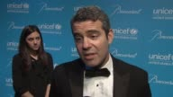 Andy Cohen talks about what brought him out tonight and why UNICEF is such an important organization at the 2011 UNICEF Snowflake Ball at New York NY