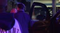 Andy Garcia Dominik Garcia Lorido arrive at Staples Center in Los Angeles in Celebrity Sightings in Los Angeles