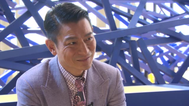 INTERVIEW Andy Lau on Hong Kong films premiering at the Cannes Film Festival at 'Blind Detective' Interviews on 5/20/2013 in Cannes France