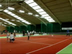 Andy Murray advises young players/ hit by ball More of Murray training children on tennis court