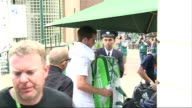 Andy Murray arrival at Wimbledon ENGLAND London Wimbledon EXT Andy Murray out of car and along / Murray along through security gates / Murray has...