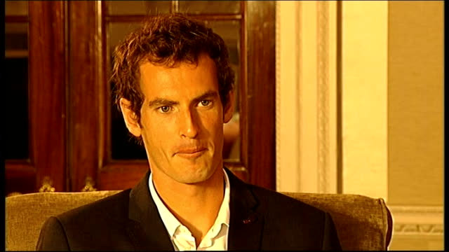 Dunblane INT Andy Murray interview SOT on Cromlix hotel / on changing image of Dunblane on defending his title at Wimbledon on Scottish independence...