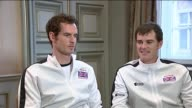 Andy Murray Jamie Murray and Leon Smith interviews BELGIUM Ghent INT Andy Murray and Jamie Murray interview SOT