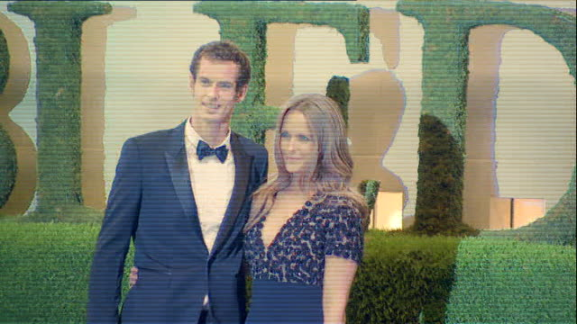 Andy Murray knighthood speculation following Wimbledon victory 772013 PHOTOGRAPHY** Andy Murray and girlfriend Kim Sears posing for photocall at the...