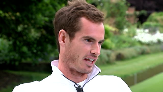Andy Murray tennis match and interview Andy Murray along with reporter Andy Murray interview SOT