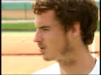 Andy Murray training with children / interview Andy Murray interview SOT I'm launching the road to Andy Murray competition for David Lloyd for kids...