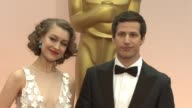 Andy Samberg and Joanna Newsom at 87th Annual Academy Awards Arrivals at Dolby Theatre on February 22 2015 in Hollywood California