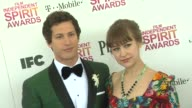Andy Samberg and Joanna Newsom at the 2013 Film Independent Spirit Awards Arrivals on 2/23/13 in Santa Monica CA
