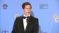 INTERVIEW Andy Samberg at 71st Annual Golden Globe Awards Press Room in Los Angeles CA