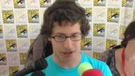 INTERVIEW Andy Samberg on the movie on his character on why he wanted to do this movie and on who he plays at the ComicCon 2009 'Cloudy with a Chance...