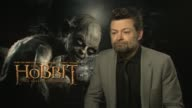 Andy Serkis on being a Nerd being accepted at the The Hobbit An Unexpected Journey interviews on the 7th of March 2013