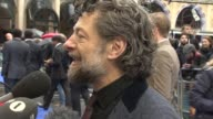 INTERVIEW Andy Serkis on being a part of Star Wars and the British film industry at 'XMen' Premiere at Odeon Leicester Square on May 12 2014 in...