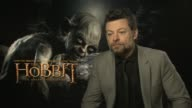 Andy Serkis on Peter Jackson at the The Hobbit An Unexpected Journey interviews on the 7th of March 2013